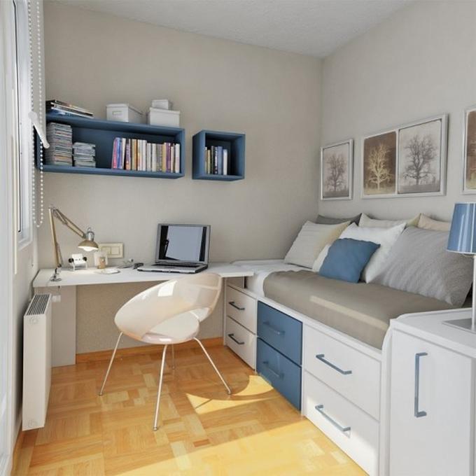 Hedendaags idee voor een kleine slaapkamer van een tiener.. Foto geplaatst RJ-48
