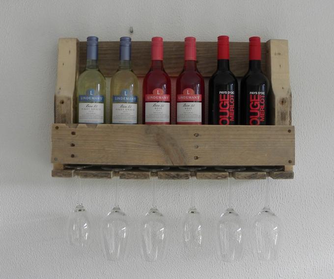 Wonderlijk Stoer wijnrek van pallet hout. Makkelijk op maat te maken.... Foto TJ-27