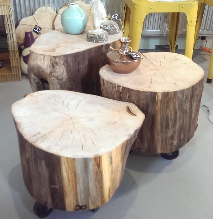 Betere Lindenhouten boomstamtafel. Te gebruiken als bijzet tafeltje of UO-11