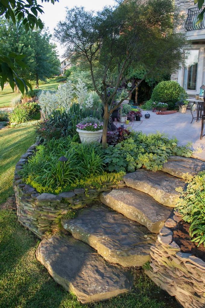 Ongekend Leuke natuurlijke trap in de tuin. Foto geplaatst door Ammiegirl DS-78