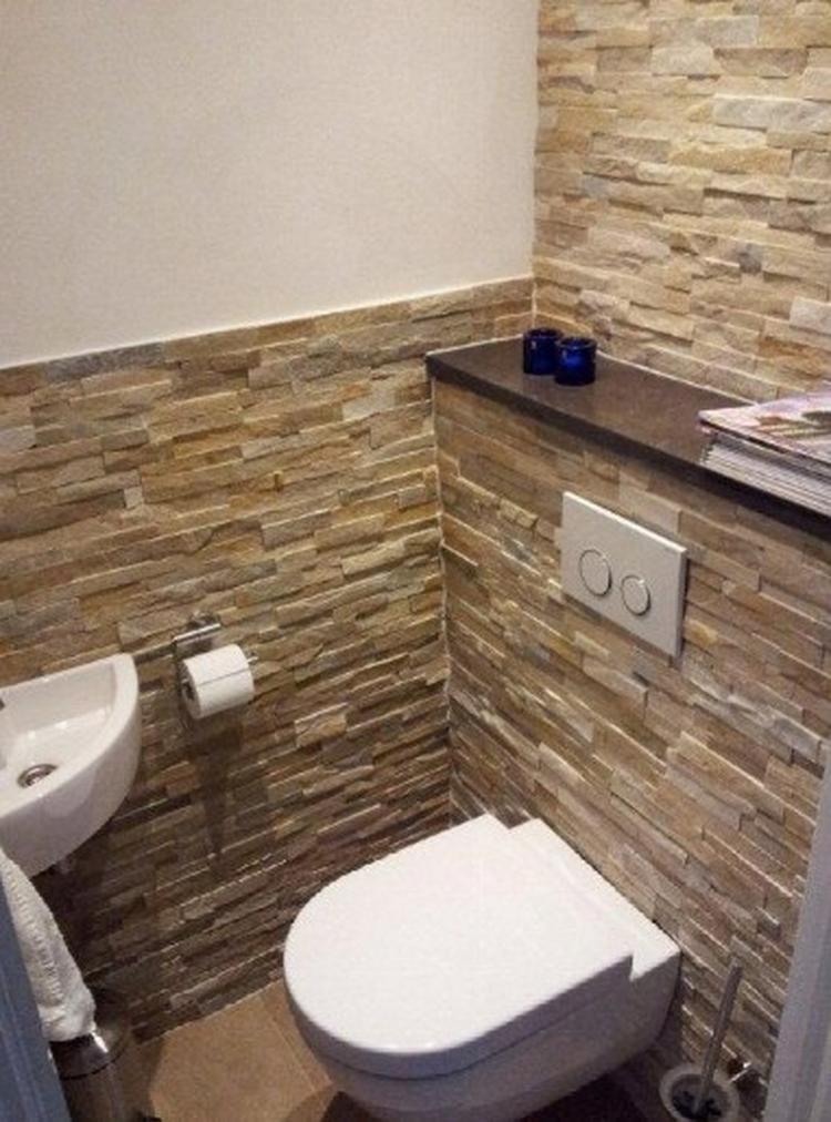 Uitzonderlijk Steenstrips in toilet voor hele andere look... Foto geplaatst door &CO85