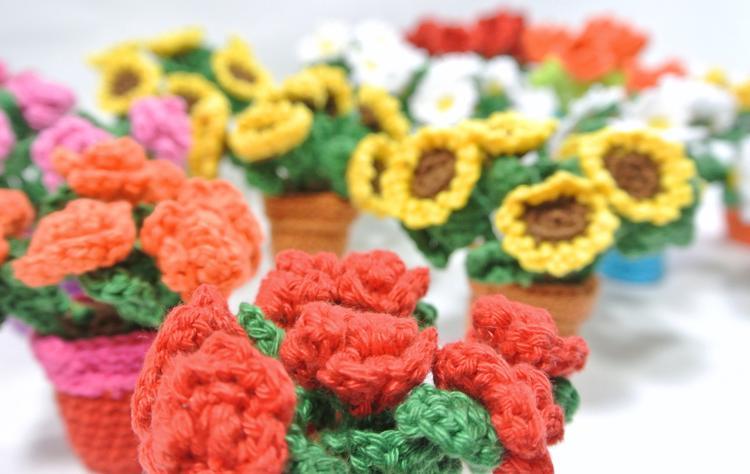 Haak Je Eigen Roosjes Zonnebloemen Margrietjes Of Tulpen In Een