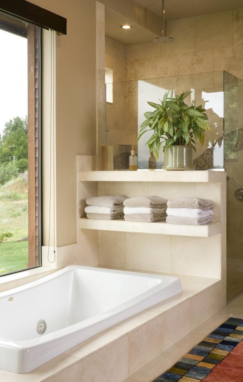 mooi idee voor handdoeken in de badkamer. foto geplaatst door, Badkamer