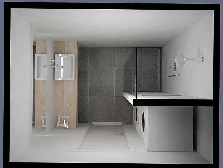badkamer met wasmachine!. Foto geplaatst door charmantenieuwbouw op ...
