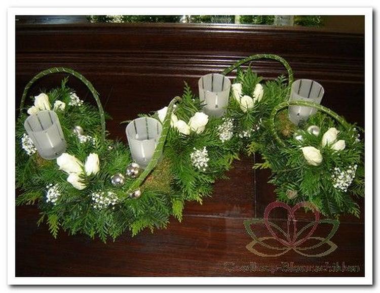 mooi kerst tafelstuk. foto geplaatst door vevinne op welke.nl