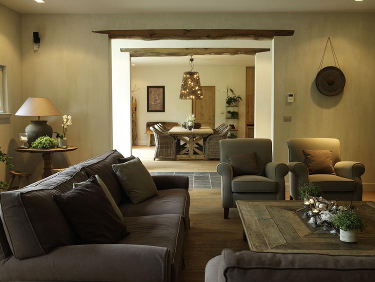 Prachtige natuurlijke tinten in de woonkamer... Foto geplaatst door ...