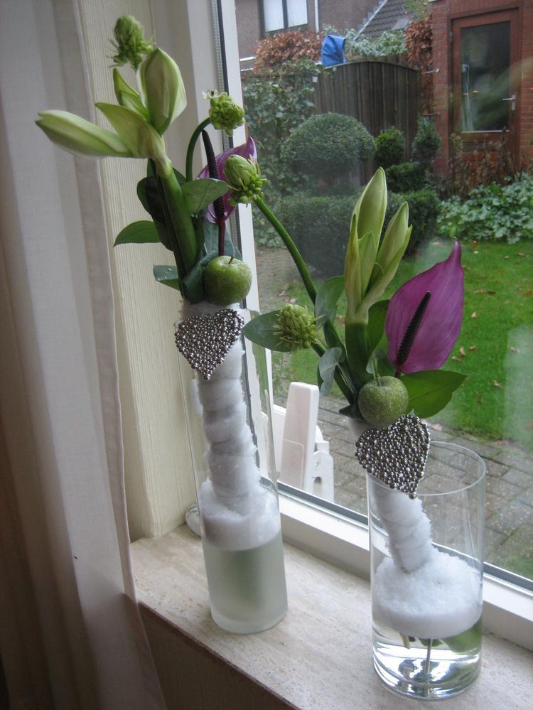 bloemschikken voor kerst. foto geplaatst door splinter op welke.nl