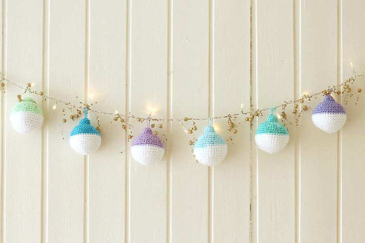 Kerstballen Haken Patroon Op De Website Foto Geplaatst Door