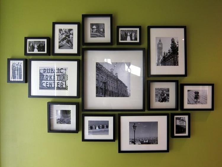 Fotowand Ikea ribba fotolijsten fotowand compositie creatief foto geplaatst