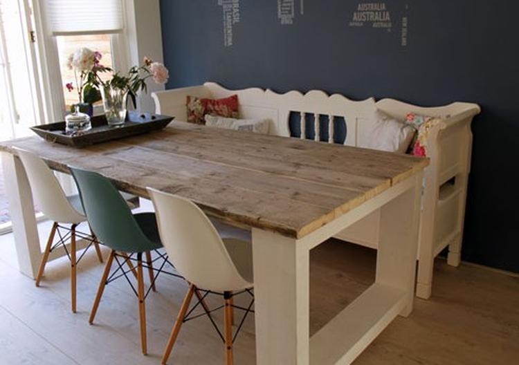 Mooie Steigerhouten Eettafel.Mooie Woonkamer Tafel
