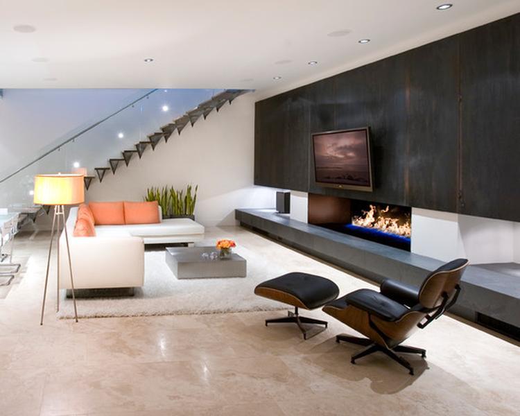 Mooie strakke woonkamer met openhaard. Foto geplaatst door Milow op ...