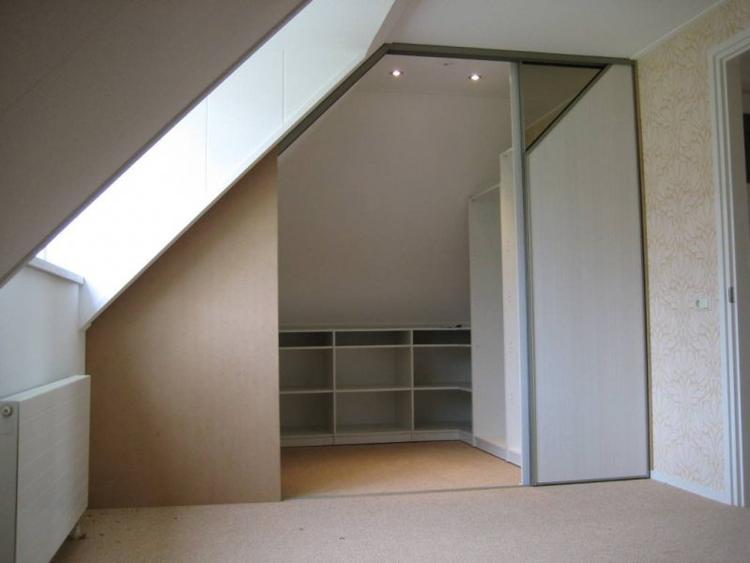 weer een idee voor onder een schuin dak in de slaapkamer. Foto ...