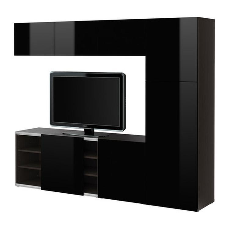 tv meubel woonkamer Ikea Besta TV opbergmeubel met schuifdeur ...