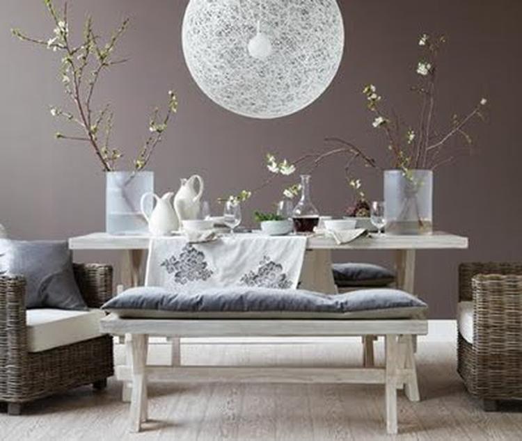 Grijze muur met zand kleurige vloer, erg mooi!. Foto geplaatst door ...