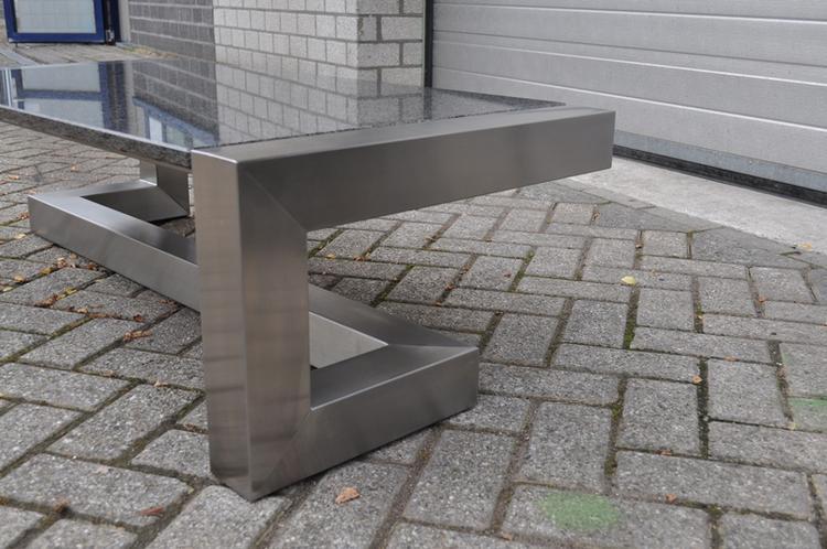 Nieuw salontafel RVS met graniet, Designerstyle - design furniture &amp JY-07