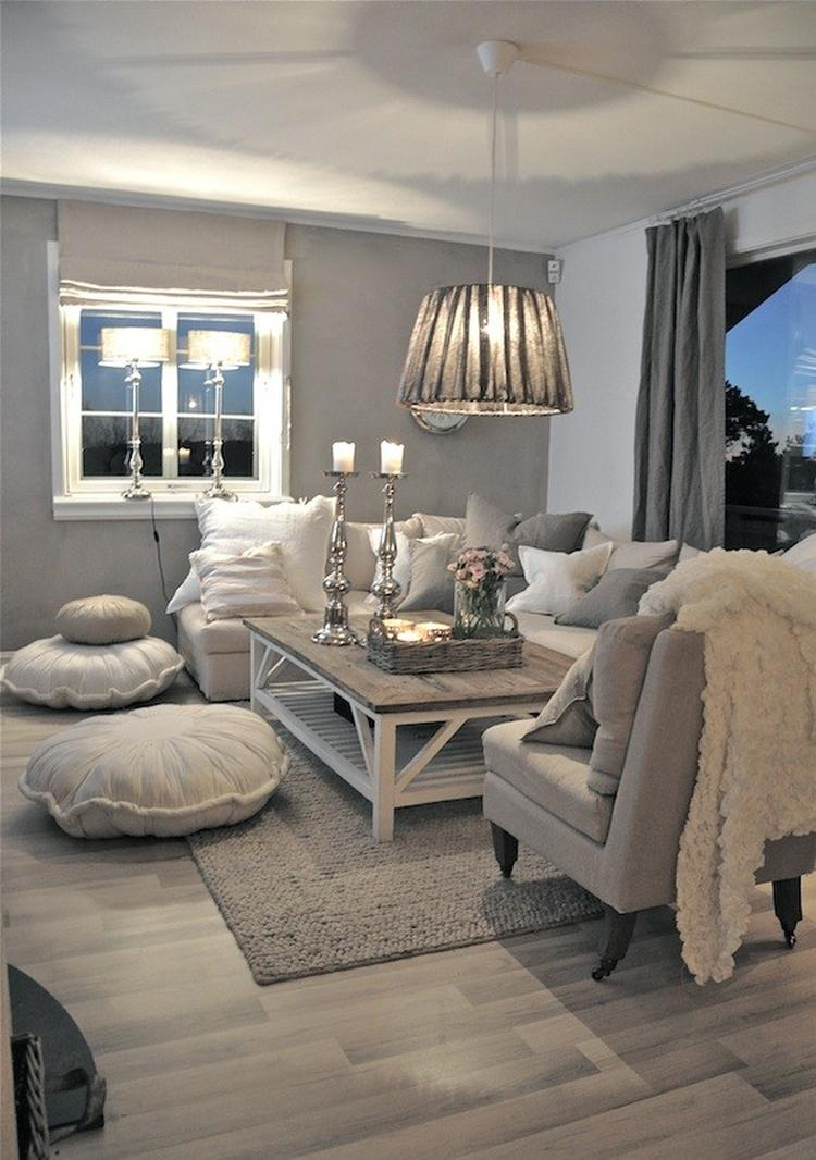 grijstinten interieur woonkamer, sfeervol en gezellig. Foto ...