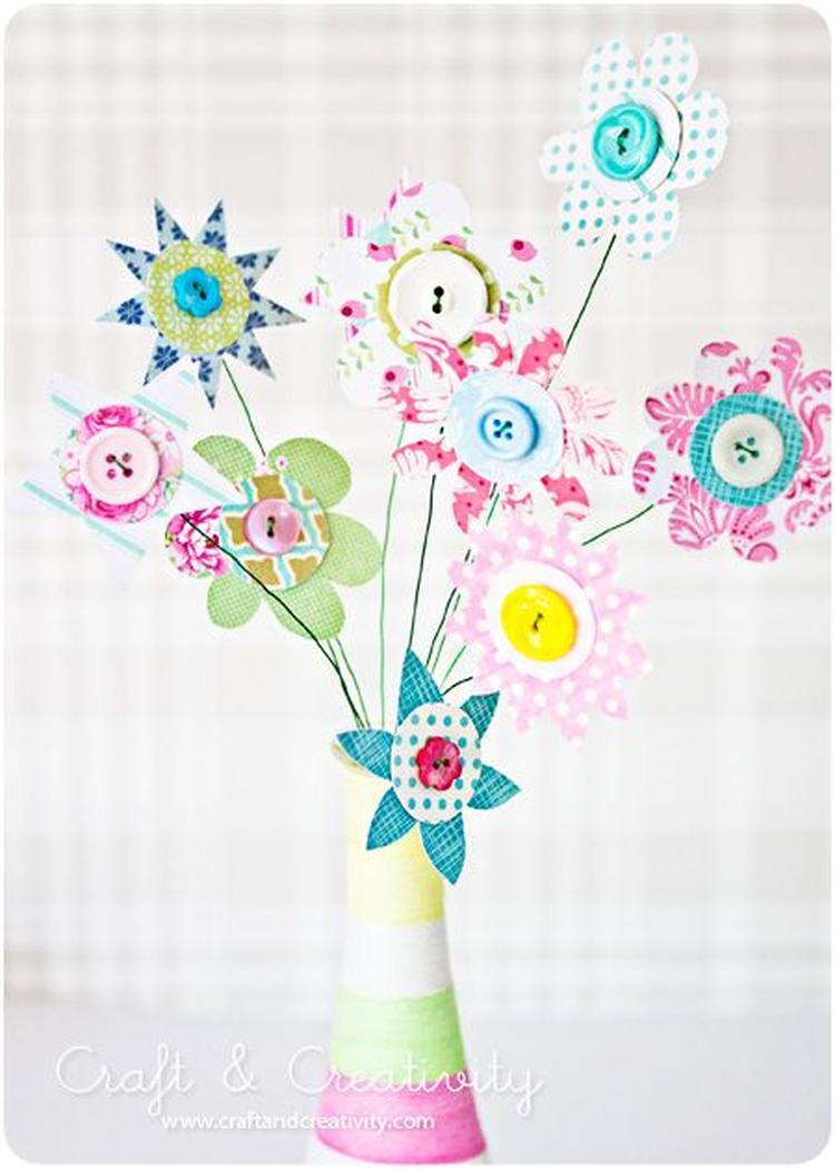 Populair Bloemen knutselen met knopen. Foto geplaatst door Radecke op Welke.nl AO73