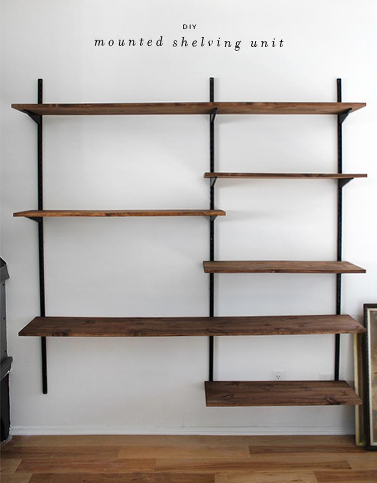 Eenvoudig Te Maken Kast Van Planken En Muurdragers Helemaal
