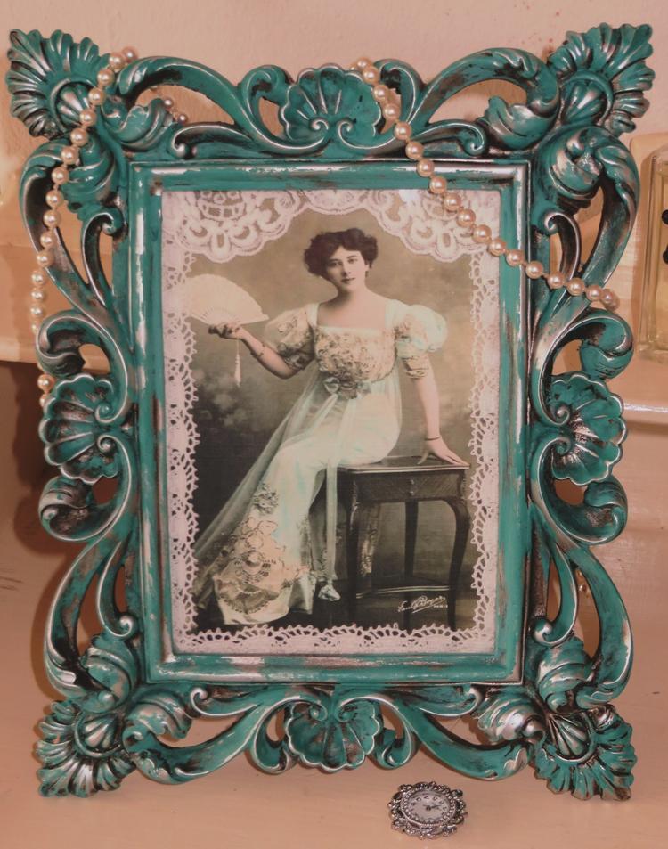 Barok Lijst Op Maat.Prachtige Brocante Barok Lijst Bewerkt Met Annie Sloan S Chalk Paint