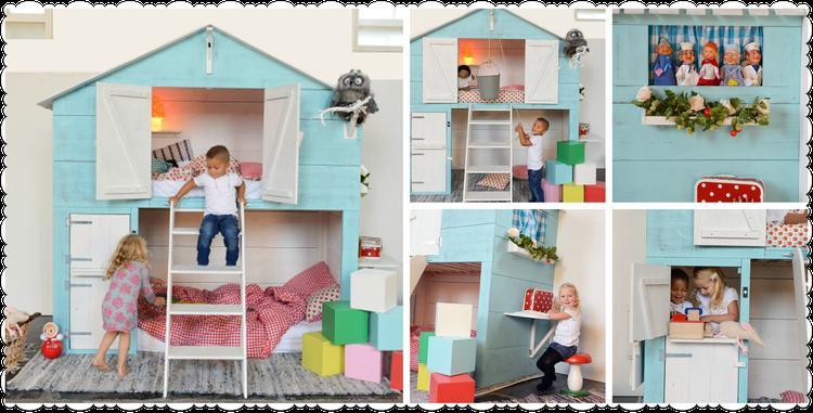 Kinderkamer bedstee bed. foto geplaatst door hatseflatsblauw op