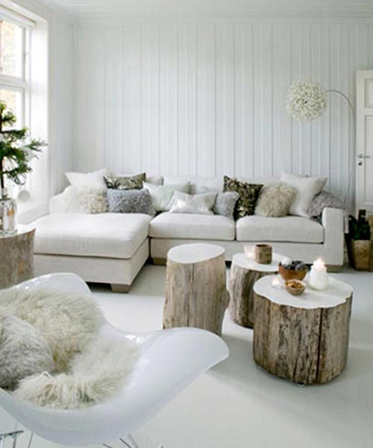 Gezellige woonkamer met natuurlijke materialen. Foto geplaatst door ...