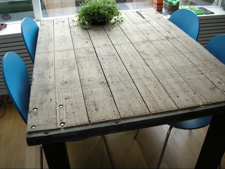 Houten tafelblad maken fabulous tafel maken met houten tafel
