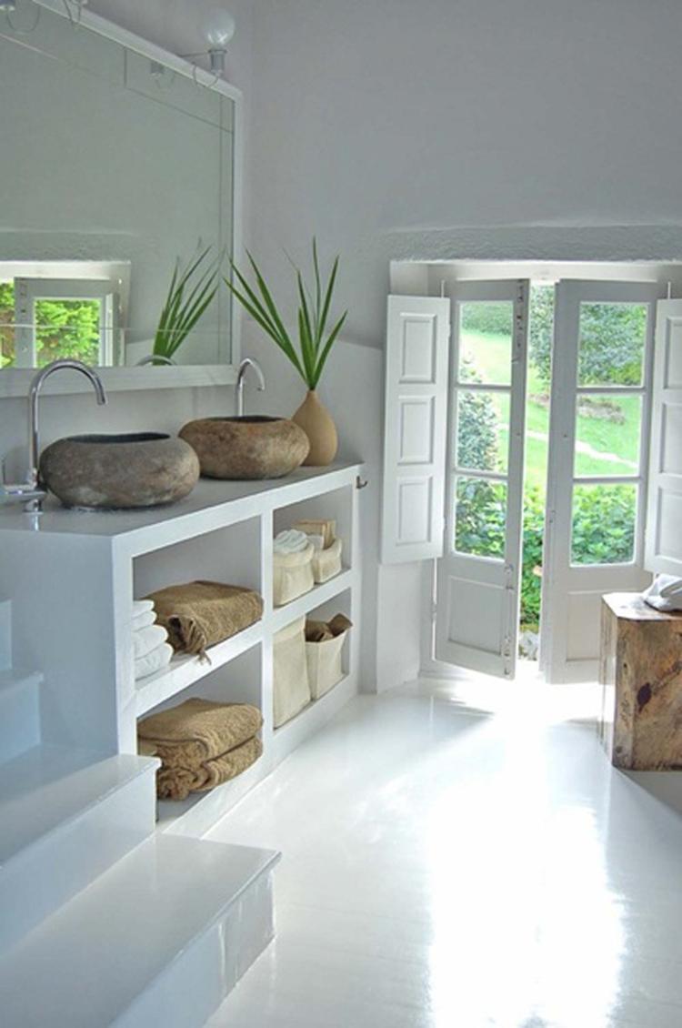 mooie natuurlijke badkamer. Foto geplaatst door liepje op Welke.nl