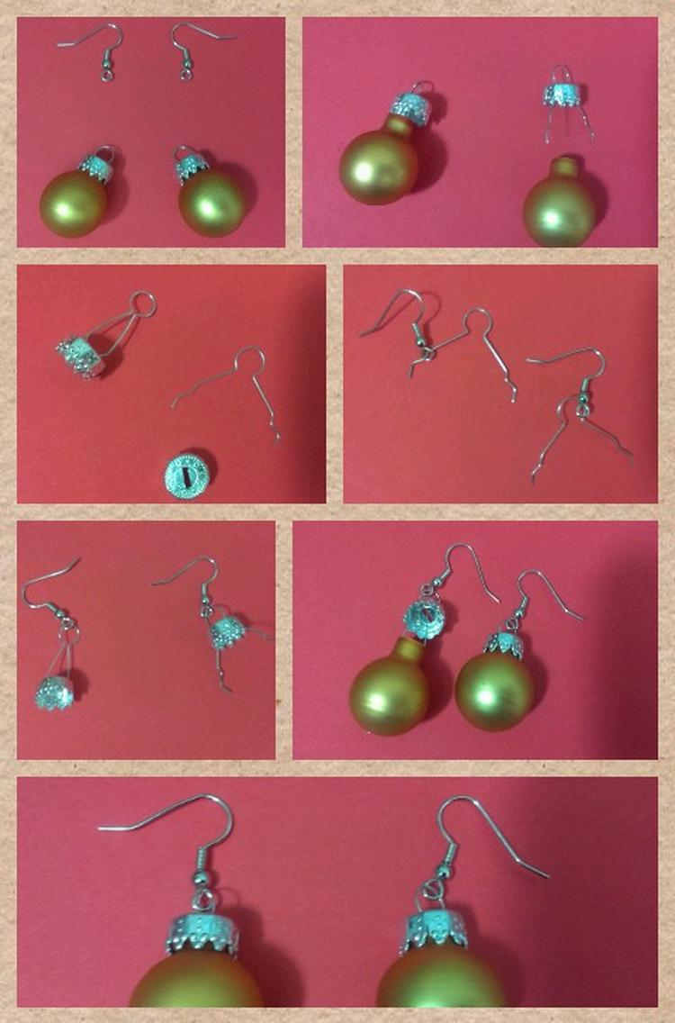 Kerstballen Als Oorbellen Om Zelf Te Maken Haakjes Zijn