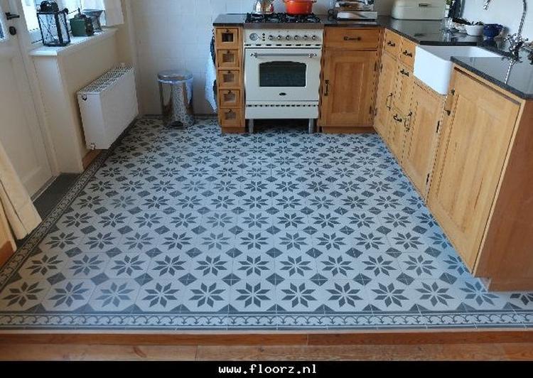 Portugese Tegels Keuken : Portugese tegels sirius green 20x20 cm toegepast in keuken