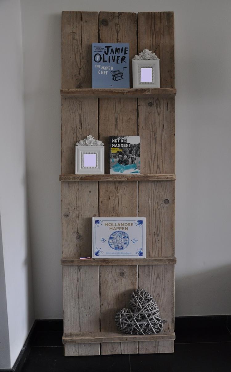 Mooie tijdschriftenplank van gebruikt steigerhout! Prachtige ...