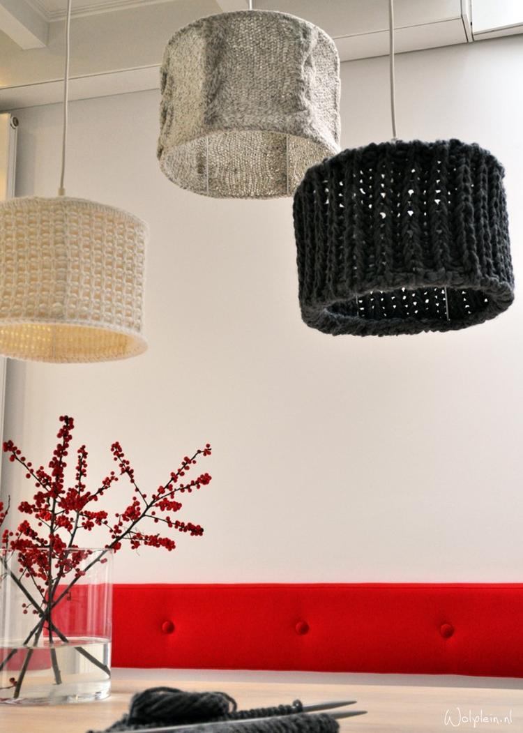 Een Lampenkap Breien Hoe Leuk Is Dat Foto Geplaatst Door Inezz17