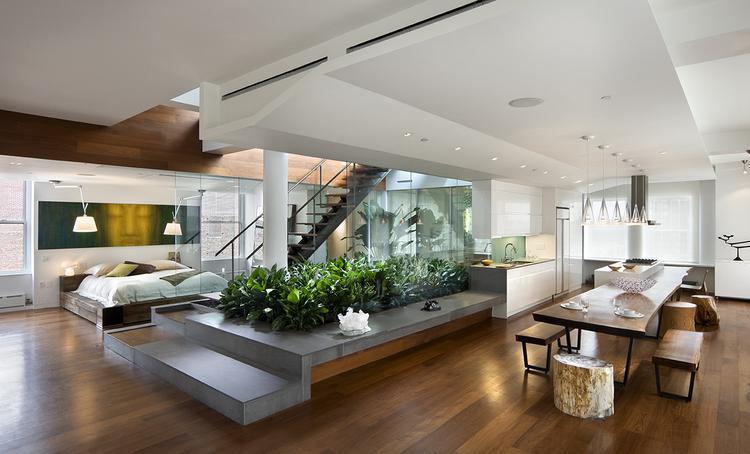 leuke scheiding van planten tussen bv. de woonkamer en eetkamer, Deco ideeën