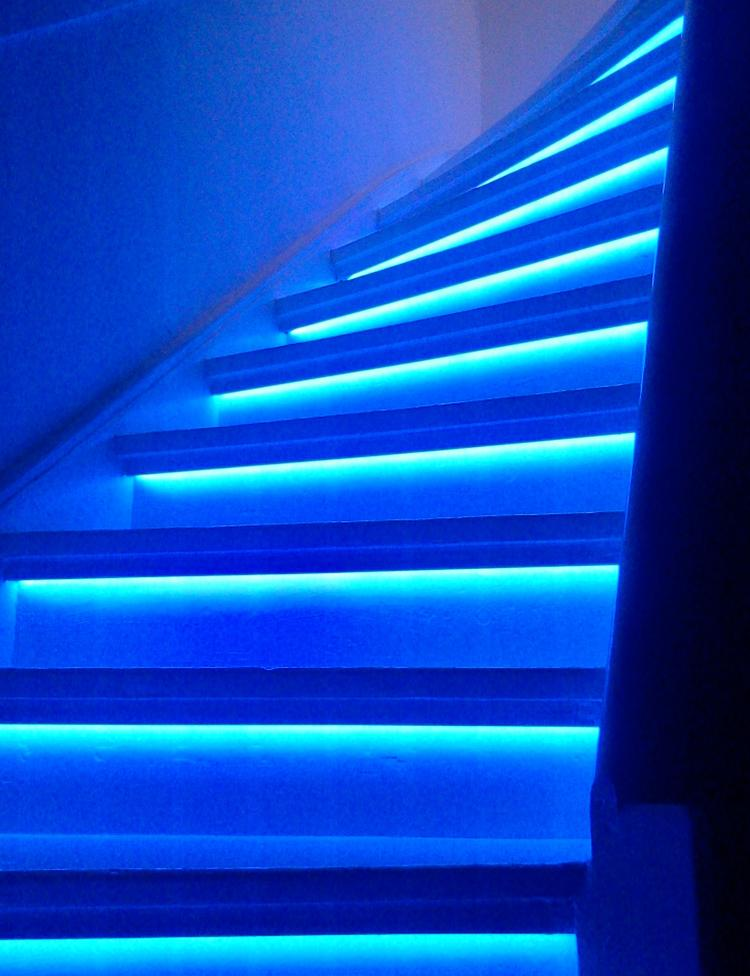Trapverlichting dimbaar met afstandsbediening LED strip blauw, 600 ...