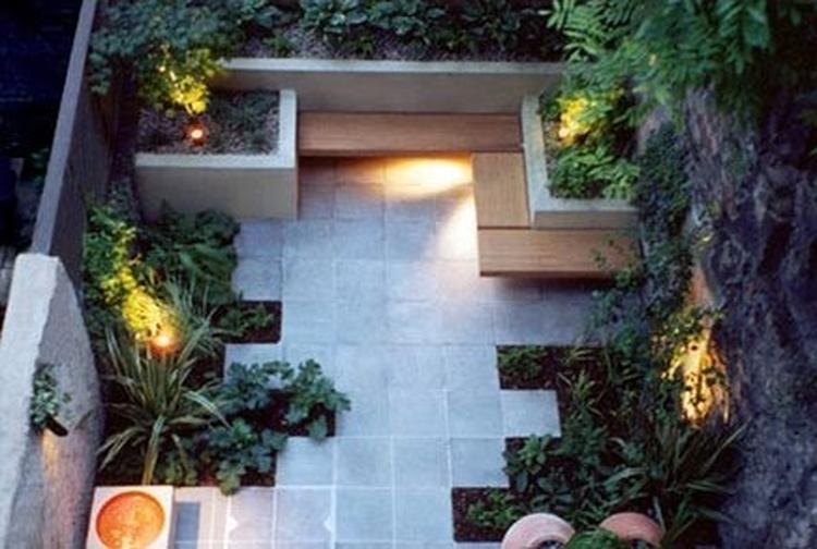 Moderne kleine tuin foto geplaatst door jolandaaaah op welke