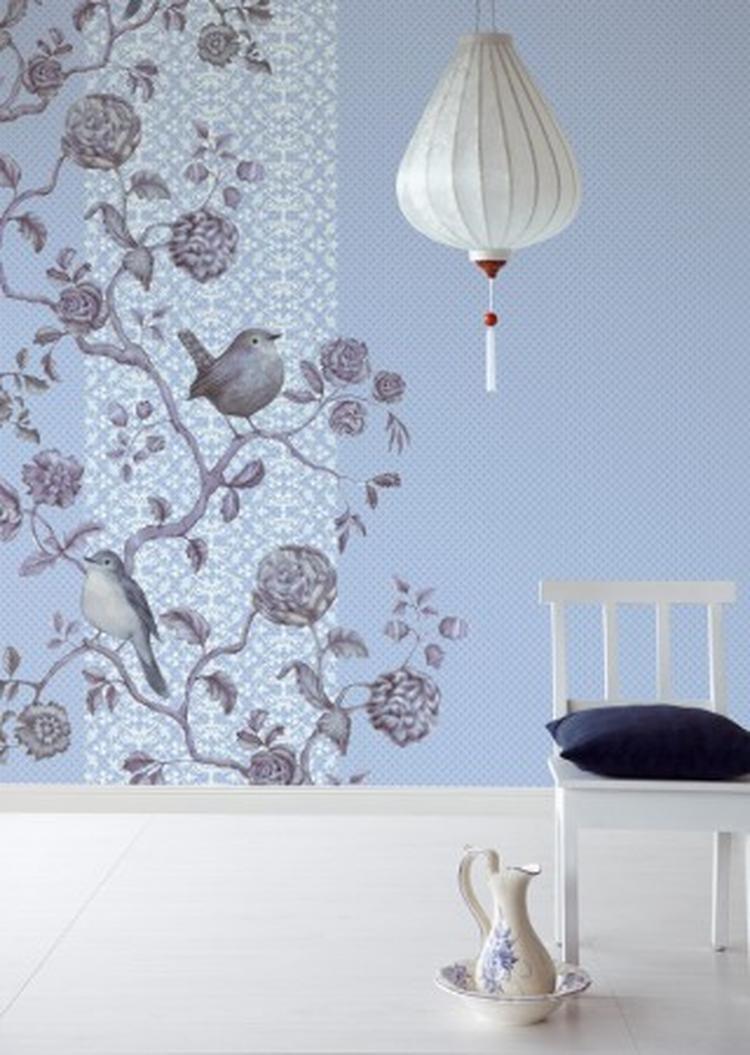 Behang met vogels mooie inspiratie voor een oriëntaalse uitstraling ...