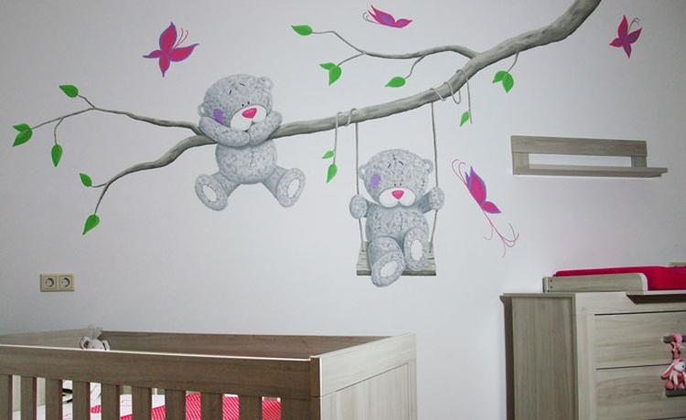 Uitstekend Stickers Babykamer : Gepersonaliseerde baby naam grote tree muurstickers stuk boom
