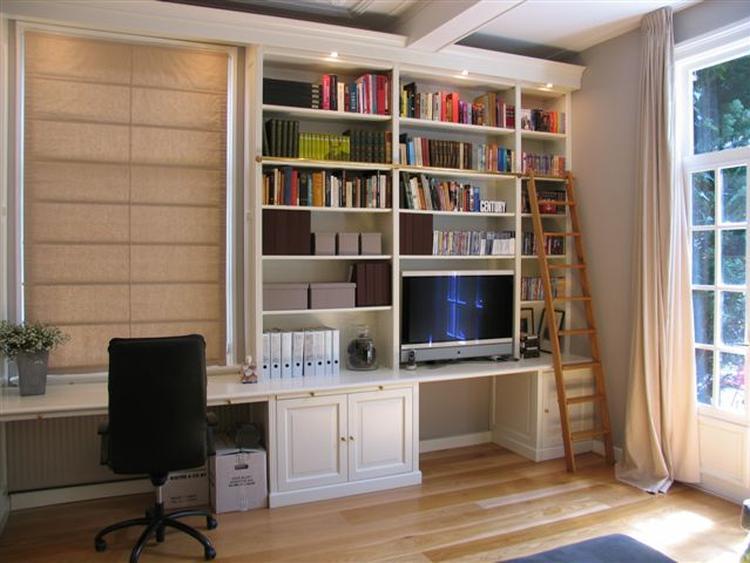 idee voor boekenkast met bureau