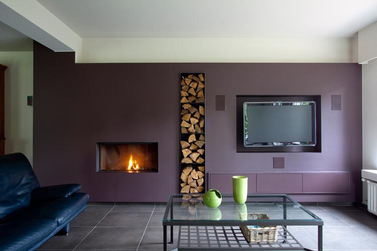 mooie tv wand. foto geplaatst door wimpie18 op welke.nl, Moderne deko