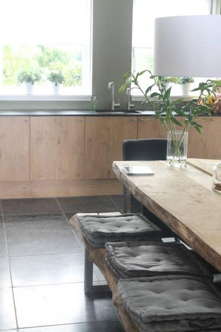 Steigerhouten Opbergkist Bankje.Super Strakke Keuken Heel Natuurlijke Uitstraling Steigerhouten