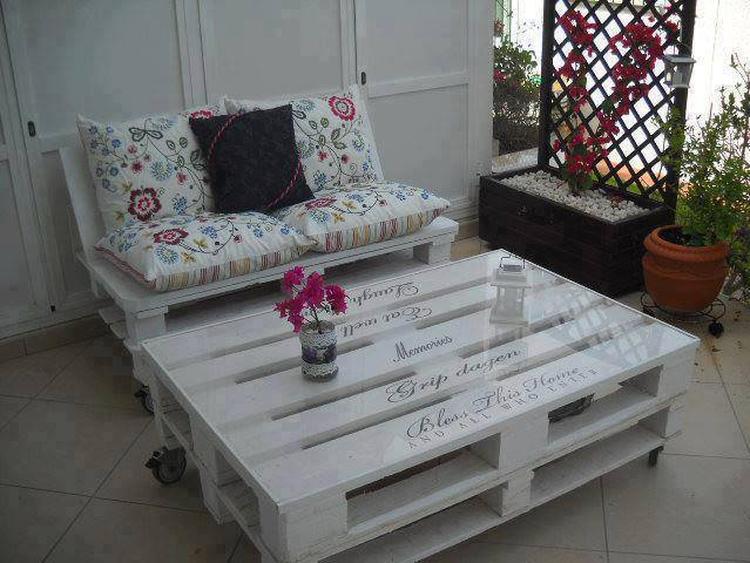 pallet tafel tuin of woonkamer. Foto geplaatst door bep-pje op ...