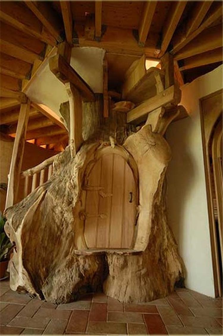 Hobbit Trap Met Geheime Kast Foto Geplaatst Door