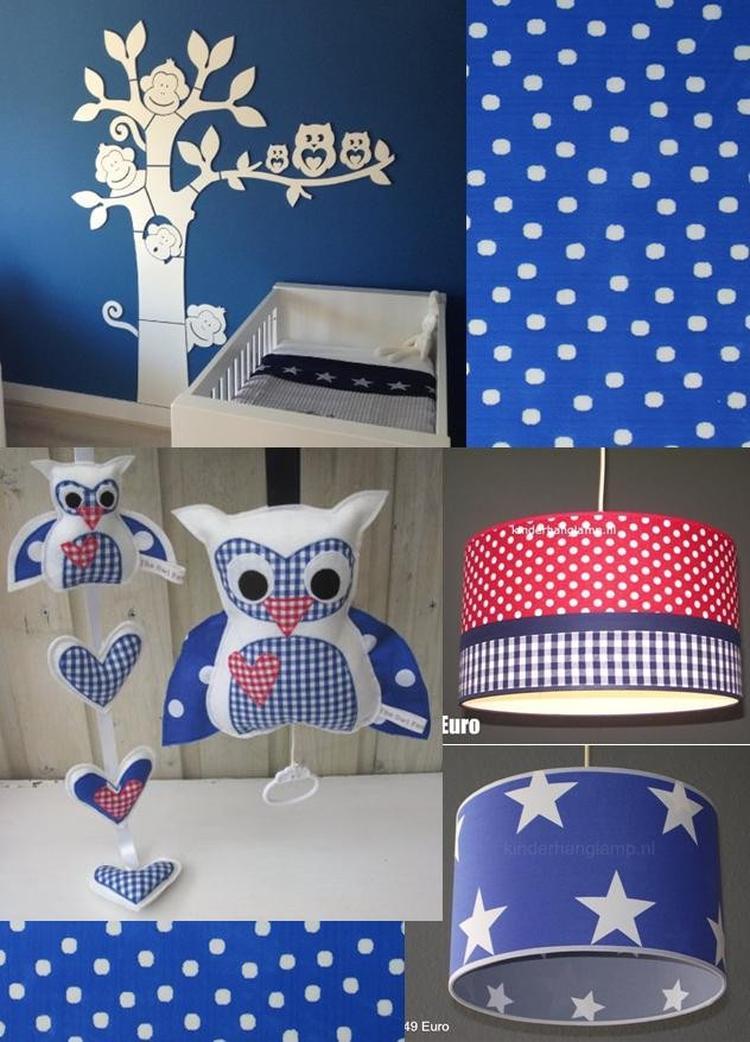 Accessoires Babykamer Uil.Babykamer Ideeen Accessoires Blauw Rood Uil Foto Geplaatst Door