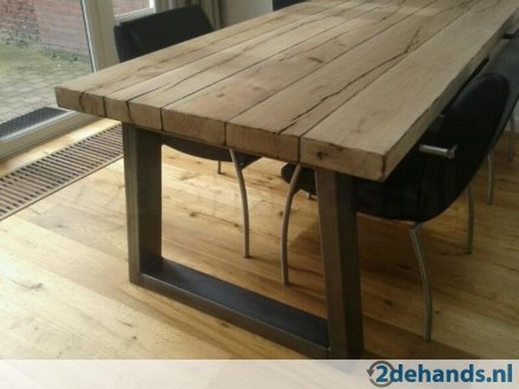 Zelf Tafel Maken : Kruispoot tafel zelf maken top tafel steigerhout white wash