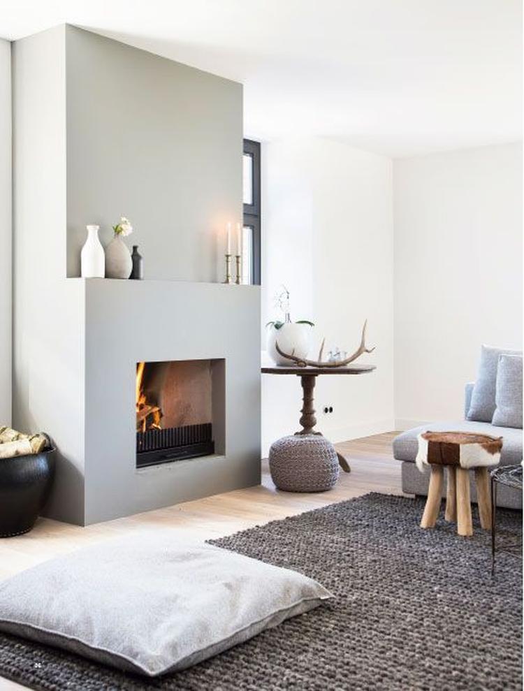 openhaard woonkamer met kleed. Foto geplaatst door svb-70 op Welke.nl