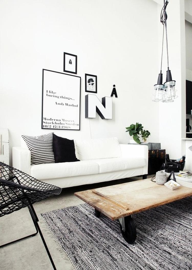 Wit/zwarte industriële woonkamer.. Foto geplaatst door elainn op ...