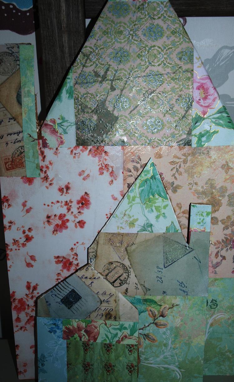 Amazing van karton en restjes behang of vd action maak je for Gekleurd papier action