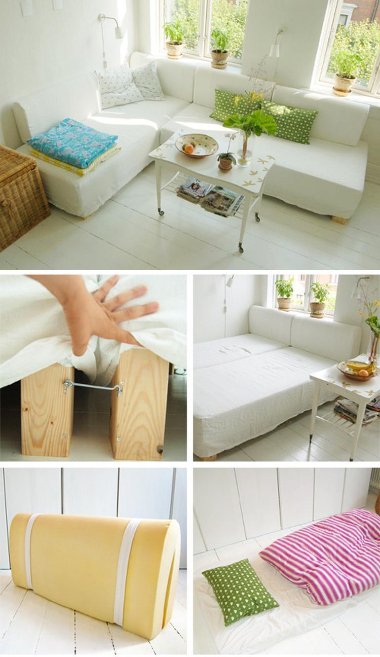 Fabulous Slimme bedbank, met zelf te maken foam kussens. Foto geplaatst  SK74
