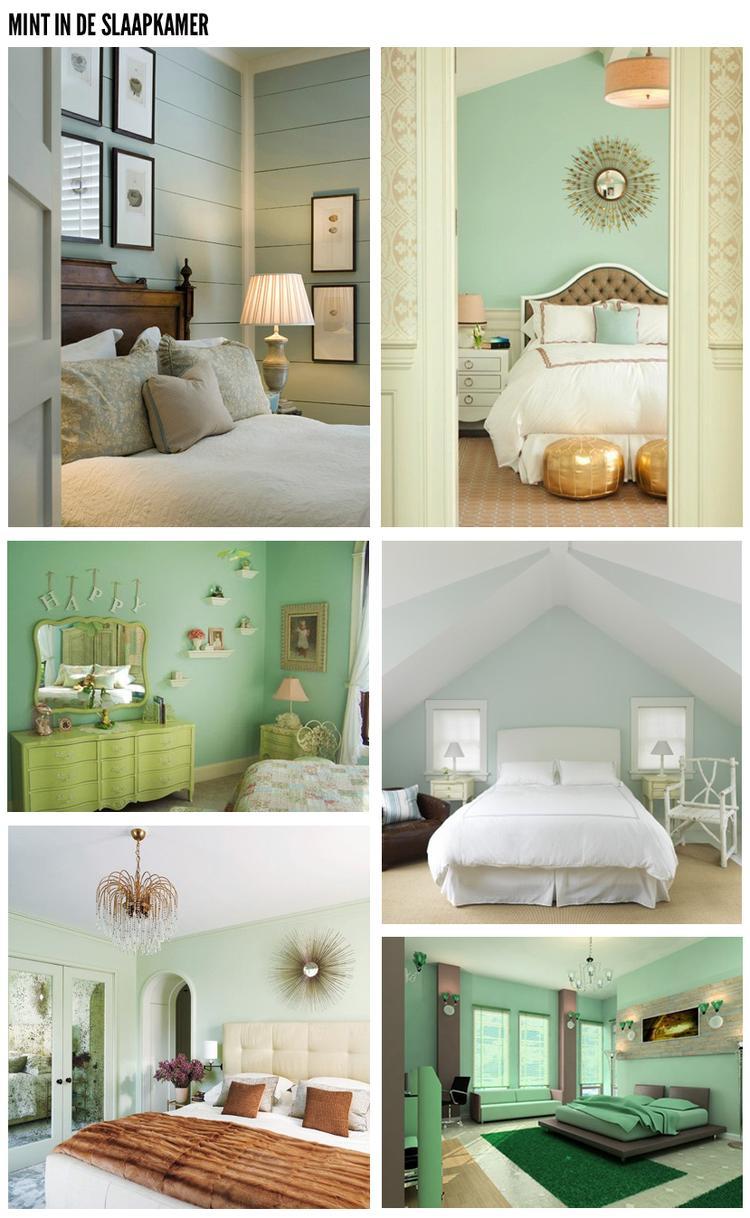 Groen in de slaapkamer for Beste kleur slaapkamer