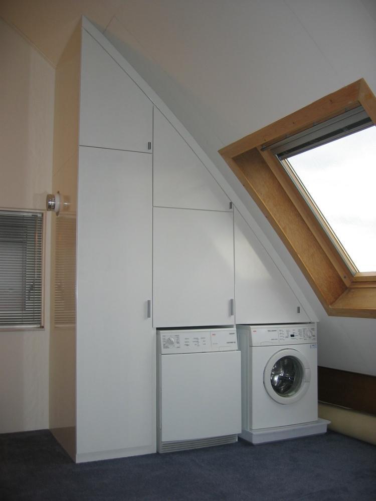 Wasmachine Droger Ventilatiesysteem En Schuinewand