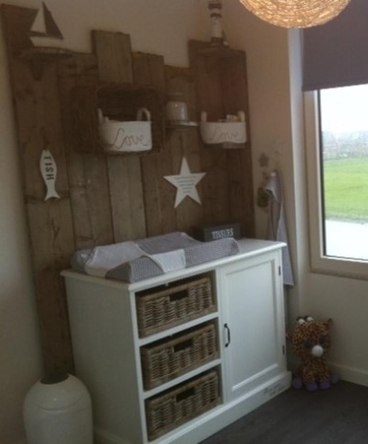 Babykamer Steigerhout Wit.Steigerhouten Achterwand Babykamer Foto Geplaatst Door Anouk